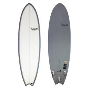"""HECTIC BOARD CO SEAGULL MID LENGTH 6'10""""(45.97 L) PU GREY"""