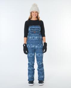 RIP CURL SNOW 2021 WOMENS VERMONT BIB PANT MID BLUE WASH