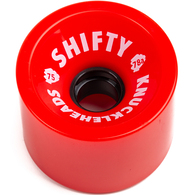 SHIFTY KNUCKLEHEADS RED WHEELS 75MM 80A