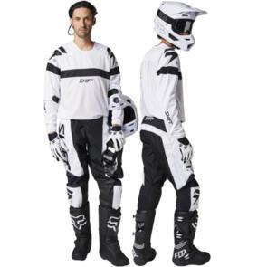SHIFT 2021 WHITE LABEL JERSEY + PANTS WHITE/BLACK COMBO