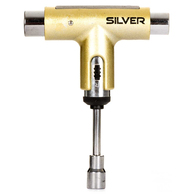 SILVER TRUCKS SKATE TOOL METALLIC GOLD