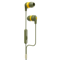 SKULLCANDY INK'D + WIRED OLIVE/YELLOW