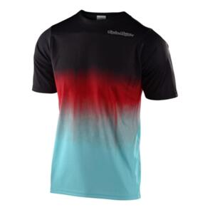 TROY LEE DESIGNS 2020 SKYLINE SS JERSEY STAIN'D BLACK / TURQUOISE