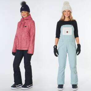 RIP CURL SNOW 2021 WOMENS BELOW JACKET + VERMONT BIB PANT ABYSS