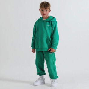 SONNIE COURT GREEN HOOD AND SWEATPANTS