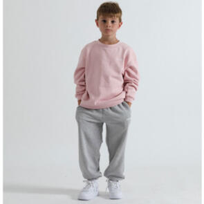 SONNIE DUSKY PINK CREW AND GREY MARLE SWEATPANTS
