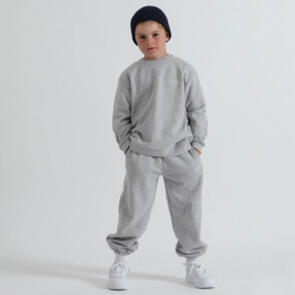 SONNIE GREY MARLE CREW AND SWEATPANTS