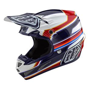 TROY LEE DESIGNS 2021 SE4 ECE COMPOSITE SPEED WHITE / RED
