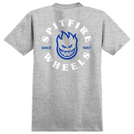 SPITFIRE BIGHEAD CLASSIC S/S TEE ATHLETIC HEATHER BLUE WHT
