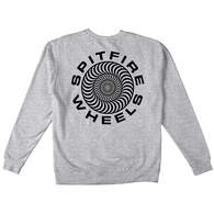 SPITFIRE CLASSIC 87' SWIRL PULLOVER CREW GREY