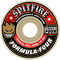 SPITFIRE FORMULA4 CONICAL FULL RED 53MM 101A