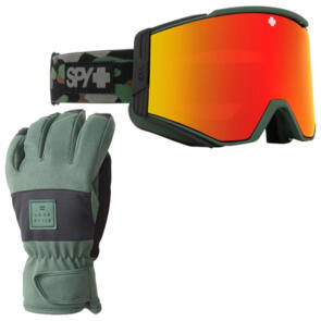 SPY OPTIC ACE 20 + BILLABONG SNOW GLOVES MILITARY MADDNESS!