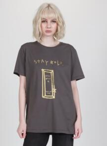 FEDERATION WOMENS RUSH TEE - STAY GOLD CHARCOAL
