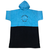 STICKY JOHNSON KIDS SMALL PALMWAVE 100% COTTON HOODED BLUE