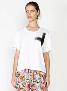 FEDERATION WOMENS STORY TEE OIL SLICK WHITE
