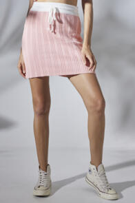 RUE STIIC EMELY MINI SKIRT ORCHID PINK WHITE
