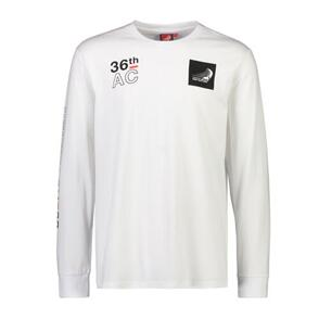 EMIRATES TEAM NZ ETNZ L/S COURSE MAP T-SHIRT WHITE