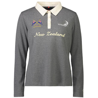 ETNZ WOMEN'S NZL L/S RUGBY JERSEY CHARCOAL