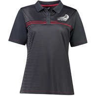 ETNZ WOMEN'S TRIMMER POLO CHARCOAL