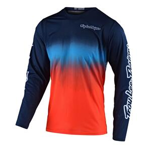 TROY LEE DESIGNS 2021 GP JERSEY STAIN'D NAVY / ORANGE | YOUTH