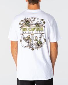 THE MAD HUEYS TROPIC CAPTAIN TEE WHITE