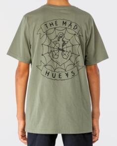 THE MAD HUEYS CUT N RUN BOYS TEE DUSTY GREEN