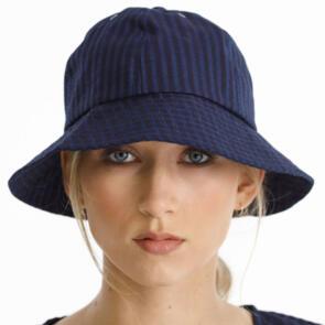 THING THING WOMENS JUNE HAT - STRIPE MIDNIGHT
