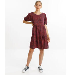 THING THING WOMENS WHIRL DRESS - DITSY RED