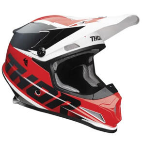THOR HELMET S21 MX SECTOR FADER RED BLACK