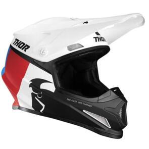 THOR HELMET S21 MX SECTOR RACER WHITE BLUE RED