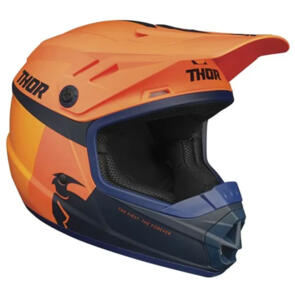THOR HELMET S21Y MX SECTOR RACER YOUTH ORANGE MIDNIGHT
