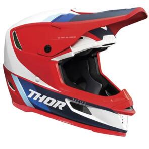 THOR HELMET MX S21 REFLEX APEX RED WHITE BLUE