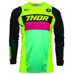 THOR JERSEY MX PULSE S21 RACER YOUTH ACID BLACK