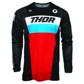 THOR JERSEY MX PULSE S21 RACER BLACK/RED/BLUE