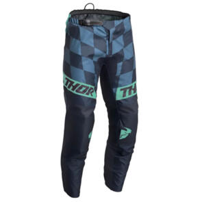 THOR MX PANT S22 SECTOR YOUTH BIRDROCK MIDNIGHT/MINT