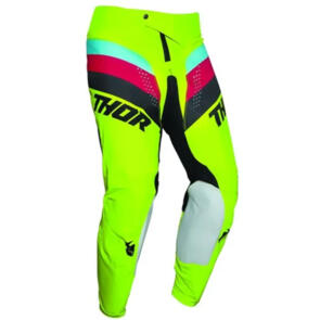 THOR PANT MX PULSE S21Y YOUTH RACER ACID BLACK
