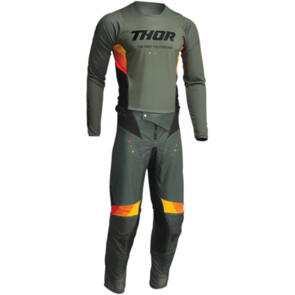 THOR 2022 PULSE REACT JERSEY AND PANTS ARMY BLACK