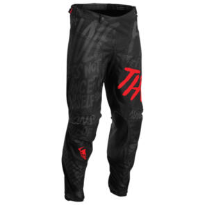 THOR 2022 PULSE PANTS COUNTING SHEEP BLACK RED