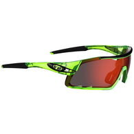 TIFOSI DAVOS CRYSTAL NEON GREEN, CLARION RED / AC RED / CLEAR LENS