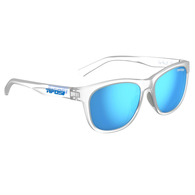 TIFOSI SWANK SATIN CLEAR, CLARION BLUE POLARIZED LENS