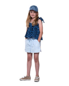 THE GIRL CLUB TIGER STRIPE HIP HOP CAP BLUE