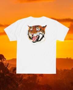 DEF TIGER TEE WHITE