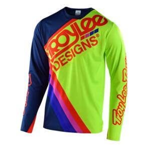 TROY LEE DESIGNS 2020 SPRINT ULTRA JERSEY TILT NAVY / FLO YELLOW