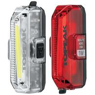 TOPEAK LIGHT WHITELITE & REDLITE SET USB 1W 110 FRONT & 55 REAR LUMENS