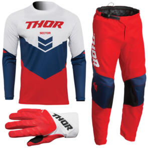THOR 2022 SECTOR YOUTH CHEVRON RED/NAVY GEAR SET