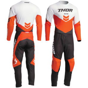 THOR 2022 SECTOR CHEVRON CHARCOAL/RED ORANGE GEAR SET