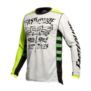 FASTHOUSE YOUTH GRINDHOUSE TRIBE JERSEY WHITE/HIGH VIZ