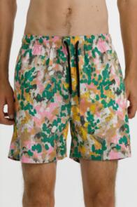 THING THING NAUT SHORT - 100% COTTON - PAINT  WITH HEM EMBROIDERY