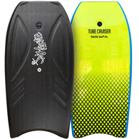 "HECTIC BOARD CO 2019 TUBE CRUISER BLACK CHARTREUSE 38"" WITH LEASH"