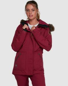 BILLABONG SNOW 2022 INTO THE FOREST JACKETS RUBY WINE